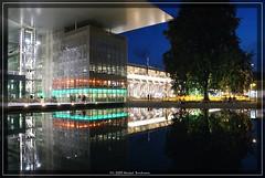 Luzern (michab100) Tags: travel light vacation color reflection architecture night schweiz switzerland licht nacht sony luzern alpha lucerne spiegelung glas mib fassade a300 flickraward michab100