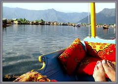 Relax in Style -  Have a Happy Week End. (Sunciti _ Sundaram's Images + Messages) Tags: travel india lake art sunrise relax landscape boat gallery searchthebest reflect kashmir 1001nights enjoyment visualart sow shikara bestshot brightspark blueribbonwinner