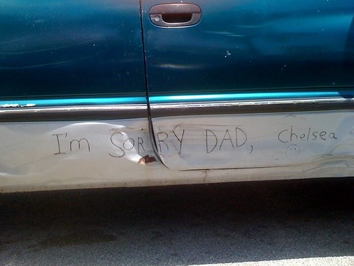 I'm sorry Dad, Chelsea :)