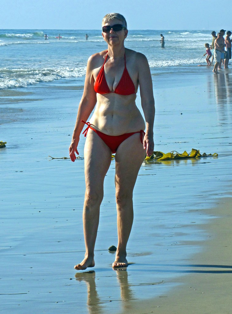 Red Bikini Beauty ,  Wife by the Sea