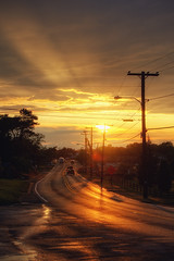 Cape Cod - Sunset over Massachusetts Route 28 (Philipp Klinger Photography) Tags: ocean road birthday street travel light sunset orange usa sun west color colour reflection tree cars wet water car rain tarmac yellow backlight america river ma coast us nikon ray power unitedstates bass capecod massachusetts united unitedstatesofamerica von cable atlantic east route electricity cape rays states dennis amerika cod philipp hdr counterlight staaten klinger route28 vereinigte of d700 vanagram dcdcdead