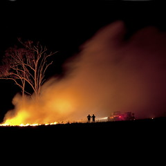 My tree is on fire (Garry - www.visionandimagination.com) Tags: fire smoke stock australia explore qld frontpage burnoff grassfire bushfireseason controlledburning ruralfireservice qfrs reductionburns wwwvisionandimaginationcom