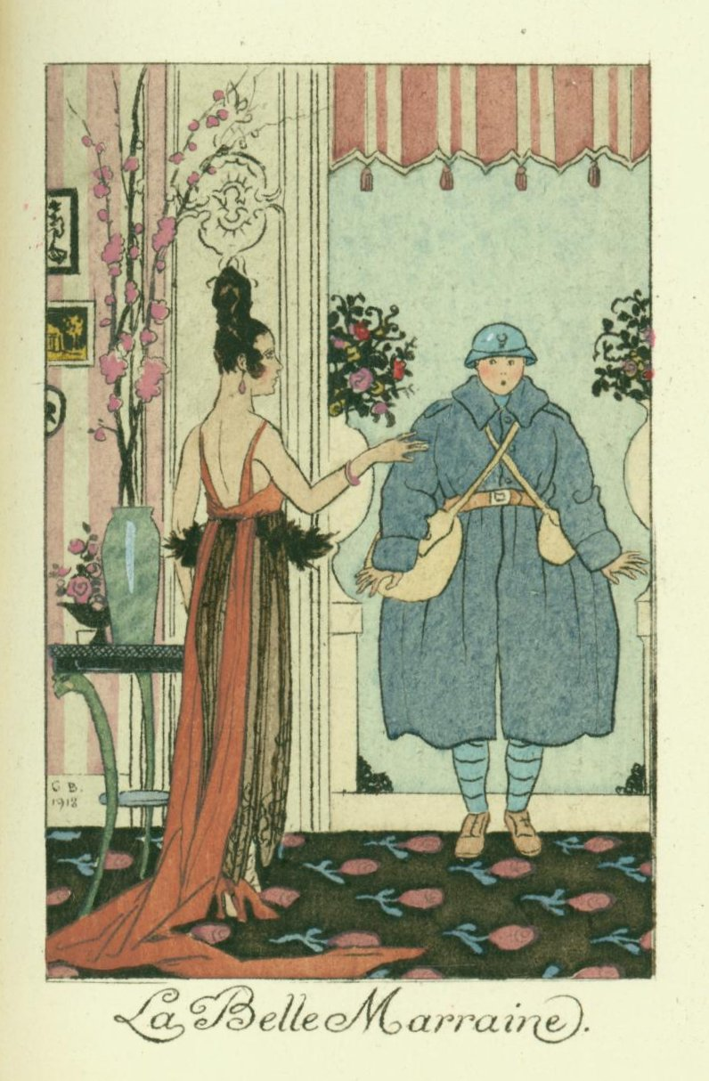 La Belle Marraine, by George Barbier for La Guirlande des Mois, 1919 (illustration dated 1918.)