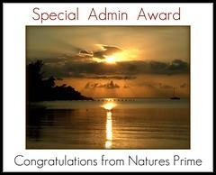 Natures Prime Admin Award