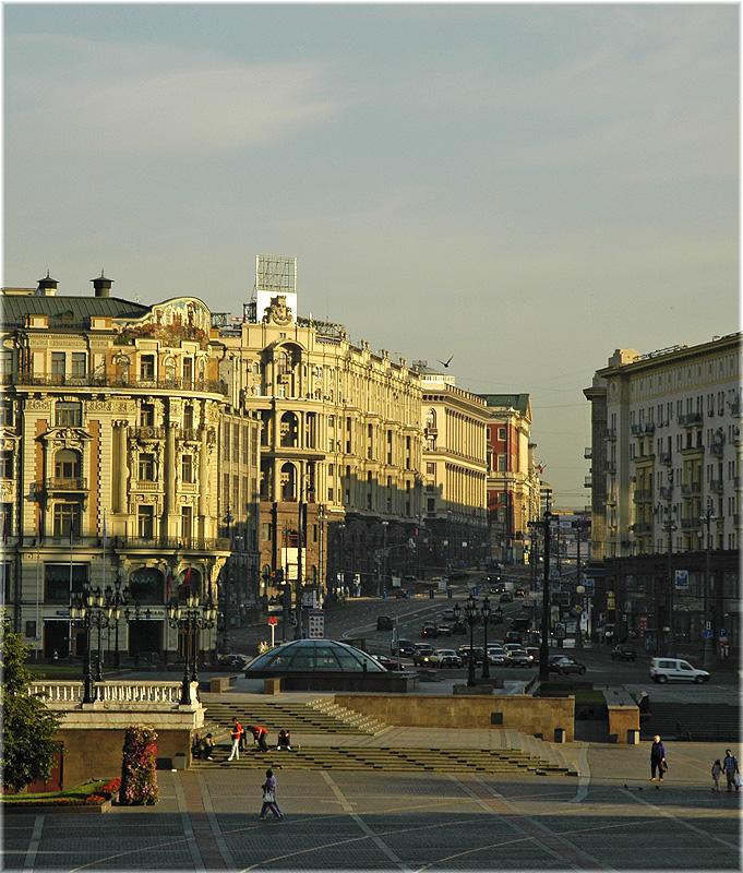 Moscow. Manezhnaya. Tverskaya. Москва. Манежная. Тверская.