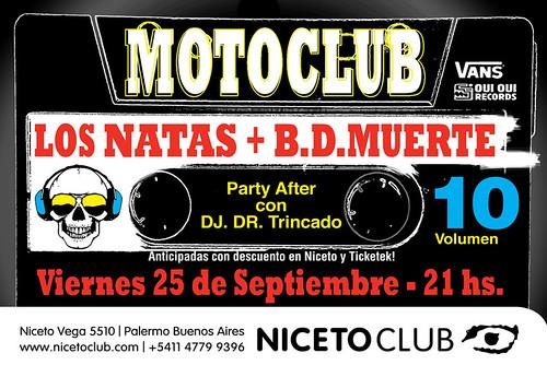 MOTOCLUB LOS NATAS - VOLUMEN 10 - VIERNES 25 DE SEPTIEMBRE