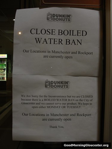 Dunkin Donuts Water Ban Signage
