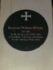 Photo of William D'Oyley green plaque