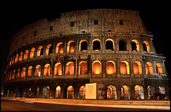 Colosseum (Alexander Steinhof) Tags: trip travel orange rome roma yellow night canon eos tour nacht sommer sightseeing august colosseum gelb sonne rom 2009 orang colosseo kolosseum coloseo koloseum platinumphoto artofimages bestcapturesaoi