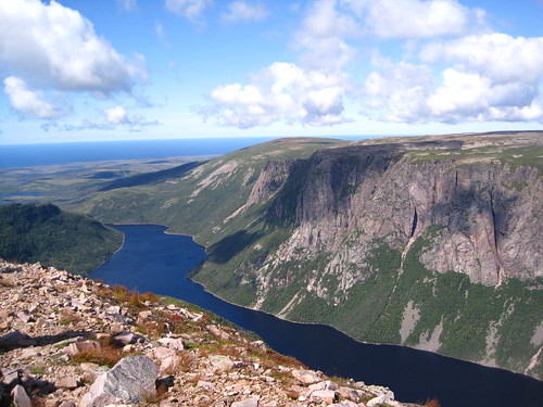 View at the top of Gros Morne Mountain