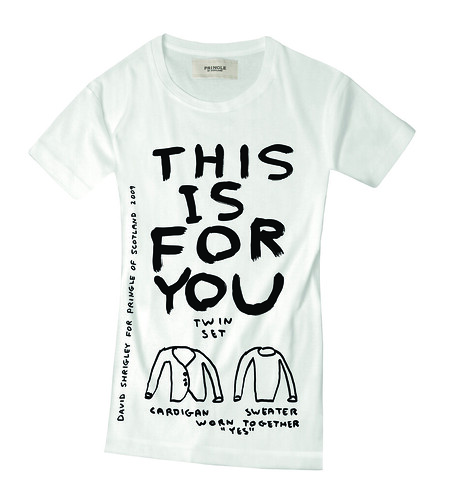 T-Shirt von David Shrigley für Pringle in Weiß