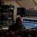 Brian laying bass track in my studio
