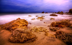 Time & Tide (isayx3) Tags: ocean county sea orange seascape texture beach water colors night landscape nikon rocks long exposure waves vibrant sigma hector cruz 365 12mm timed d300 plainjoe isayx3 bigboydrums