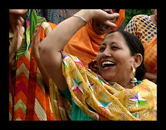 HAPPY WOMEN'S DAY (DEVENDRA PAL(AWAY)) Tags: blue red india black green film colors yellow handicraft fun photography photo dance women folk embroidery traditional documentary september celebration punjab pal 2009 songs devendra fesival teej gidha phulkari tiyan gidhha tiyaan theoriginalgoldseal