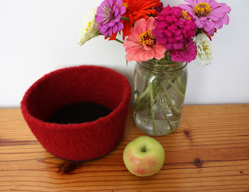 Felted bowl.