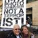David Hoffman and Friend, I'm A Photographer Not a Terrorist flashmob, Canary Wharf, London, 12 September, 2009
