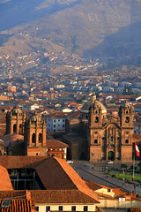 Cuzco sunset (kees straver (will be back online soon friends)) Tags: travel roof sunset red mountains peru southamerica inca cuzco architecture america ruins cathedral cusco explore andes plazadearmas lacompania keesstraver