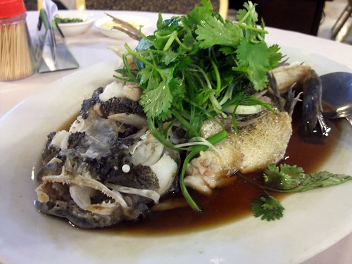 Steam Soon Hock Fish with Soy Sauce