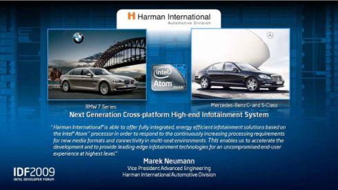 Intel Atom, BMW, Mercedes-Benz, Harman