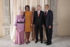 U.S. President Barack Obama and First Lady Michelle Obama With World Leaders at the Metropolitan Museum in New York (http://www.state.gov) Tags: usa ny newyork turkey president whitehouse michelle unitednations obama firstlady generalassembly barackobama erdogan unga michelleobama