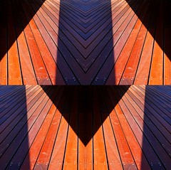 direction (sic³) Tags: light shadow color lines facade trash wooden ugly arrow