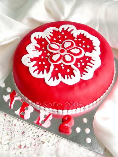 Cake batik merah