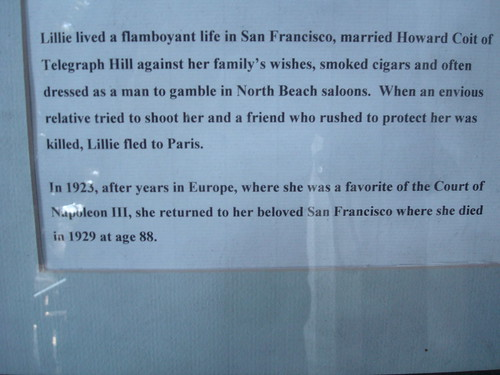 on the wall in Coit Tower