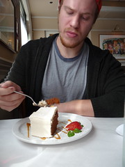 it's very serious carrot cake. no coconut. at all.