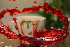 ( Splash )  <3 (F A 6 O M `) Tags: color cup canon place drop 100mm splash fofo riyadh ksa d400 fa6om