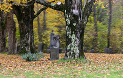 rushing past (bgblogging) Tags: autumn fall cemetery vermont driving foliage dreams ripton