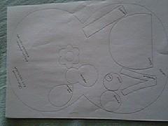Joaninha_moldes (Mónica [Artes MR]) Tags: artesanato feltro bolsa molde joaninha costura