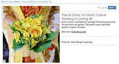 Real Weddings Feature screenshot of morning DIY bouquet, click to enlarge