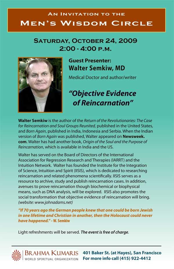 Evidence of Reincarnation by Walter Semkiw