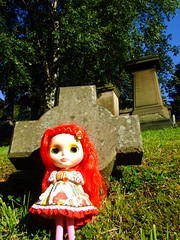 A perfect sized gravestone for a Blythe
