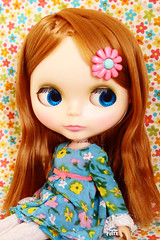 Posy wearing Posie Party Dress (_*catching up*) Tags: party vintage doll skipper redhead kenner blythe 1972 posie posy