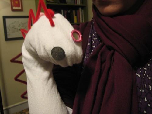 091023. my dino puppet.