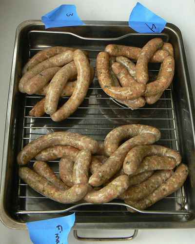 Sausage recipe tests