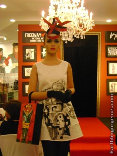Black and white dress with Ang Kiukok print