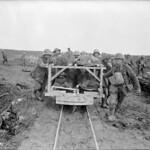 (W.W.I - 1914 - 1918) Bringing Canadian wounded to the Field Dresseing Station. Vimy Ridge. April, 1917 / (Première guerre mondiale - 1914 à 1918) Emportant les blessés canadiens à l'infirmerie. Avril 1917 thumbnail