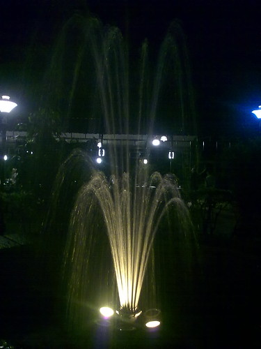 Fountain at Kamath Nandavan Jalahalli