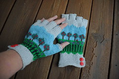 New fingerless gloves (Tone aka Hobbygaasa) Tags: knit gloves knitted stranded mitts fingerlessgloves