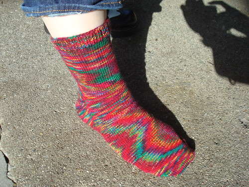 My second ever toe-up sock