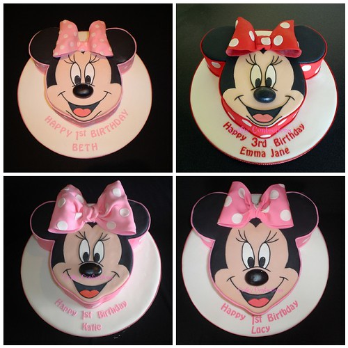 minnie mouse cake. Red polkadot Minnie Mouse Cake
