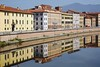 Reflection on the Banks of the Arno River in Pisa (Crumblin Down) Tags: santa bridge italy reflection tower church field del stairs bells river spiral mirror italia cathedral maria flight aerial pisa campanile reflect staircase tuscany campo marble duomo arno toscana della romanesque miracles leaning dei baptistry baptistery galileo mtr miracoli spina pisano galilei trophyshot pisan mtrtrophyshot