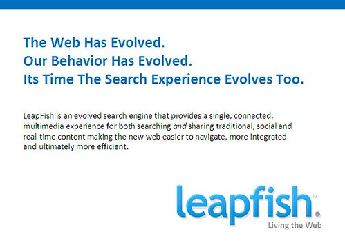 slide from LeapFish product launch PowerPoint slide