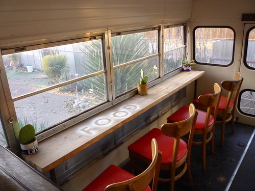 Dining car at the Food Shark