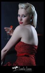 The Martini Lady. (Camila Zanon.) Tags: red woman fruit studio ensaio strawberry mulher strawberries vermelho fruta blonde morango pinup morangos loira estdio fotogrfico