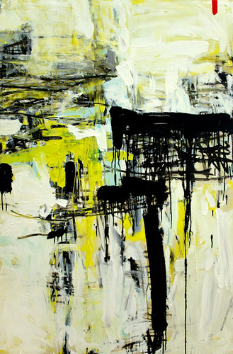 Untitled (hot yellow, black)