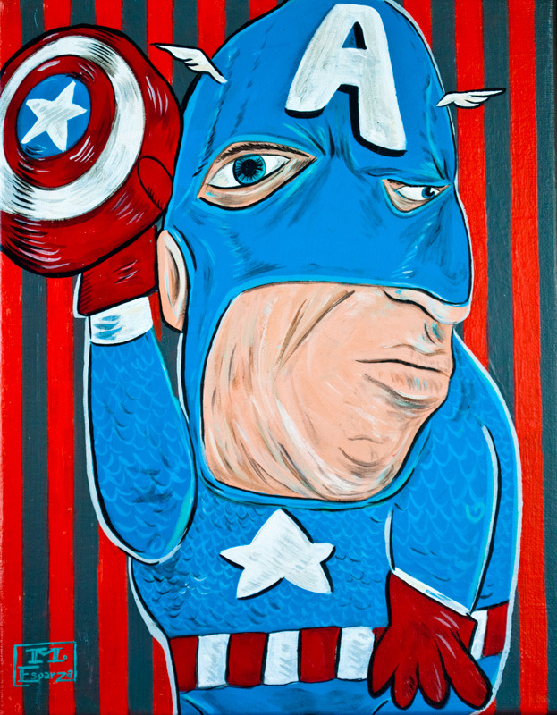 Picasso Superheroes by Mike Esparza