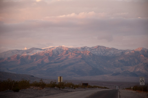 Snow on Panamint Mountains